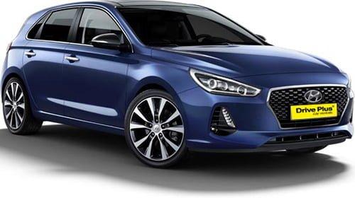 Hyundai i30 της κατηγορίας ενοικίασης μεγάλου αυτοκινήτων