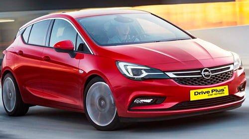 Opel Astra της κατηγορίας ενοικίασης μεγάλου αυτοκινήτων