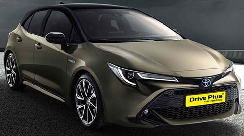 Toyota Auris της κατηγορίας ενοικίασης μεγάλου αυτοκινήτων