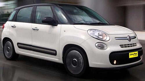 Fiat 500 L της κατηγορίας ενοικίασης μεσαίου αυτοκινήτων