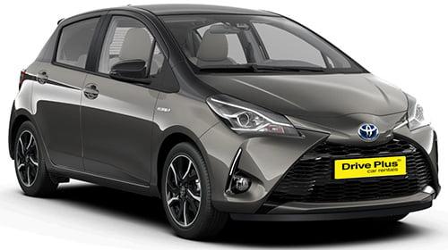 Toyota Yaris της κατηγορίας ενοικίασης μεσαίου αυτοκινήτων